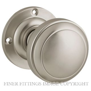 TRADCO 6569 MILTON KNOB ON ROSE SATIN NICKEL