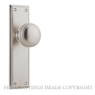TRADCO 6566 MILTON KNOB ON LONG PLATE SATIN NICKEL