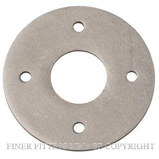 TRADCO 9377 ADAPTOR PLATE - SUIT 54MM HOLE (SOLD AS A PAIR) RUMBLED NICKEL