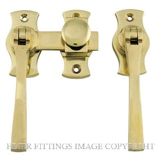 TRADCO 6460 FRENCH DOOR FASTENER - SQUARE POLISHED BRASS