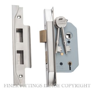 TRADCO 6172 - 6173 REBATED 5 LEVER LOCKS SATIN NICKEL