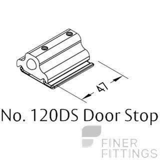 BRIO 120DS DOOR STOP SS SATIN STAINLESS