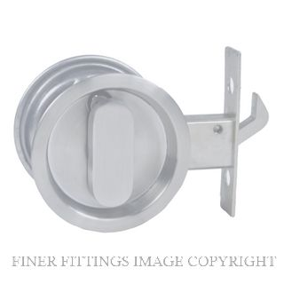 NIDUS CSDPRI RD PSS SLIDING CAVITY PRIVACY SET INCL END PULL POLISHED STAINLESS