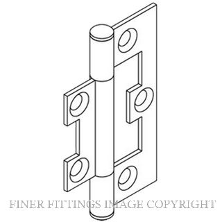BRIO 282SS HINGE 65MM - SS WITH SCREWS