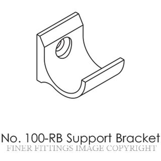 BRIO ROUND RAIL FIXING BRACKET MATT BLACK