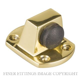DRAKE & WRIGLEY 1408 PB SOLID DOOR STOP POLISHED BRASS