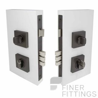 WINDSOR BRASS 1184 GN DOUBLE TURN LOCK SQUARE 60MM GRAPHITE NICKEL