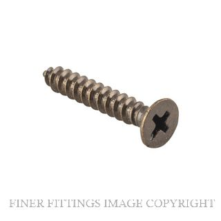 TRADCO SCHINGEAB25 - SCHINGEAB32 POZI HEAD SCREWS ANTIQUE BRASS