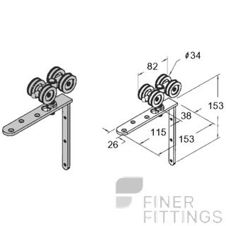 BRIO 52GN - 52SS-GN ANGLE BRACKET HANGERS