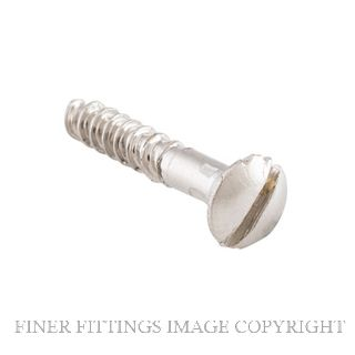 TRADCO SCPN19 - SCPN25 SLOT HEAD SCREWS POLISHED NICKEL