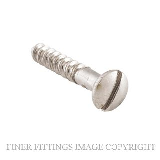 TRADCO SCSN19 - SCSN25 SLOT HEAD SCREWS SATIN NICKEL