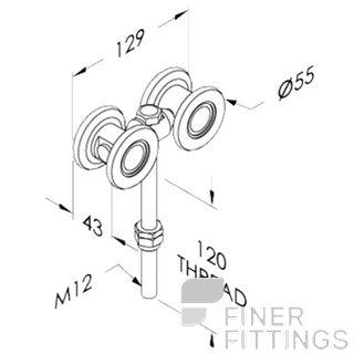 BRIO 56BLS TYPE 56L STEEL WHEEL HANGER