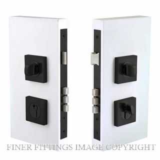 WINDSOR BRASS 1184 BLK DOUBLE TURN LOCK SQUARE 60MM MATT BLACK