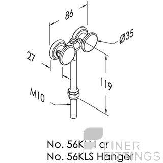 BRIO 56KLS HANGER - WITH LONG STEM