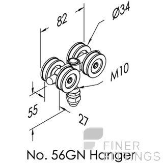 BRIO 56GN - 56SS-GN BOLT FIX HANGERS