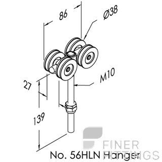 BRIO 56HLN - 56SS-HLN EXTENDED BOLT FIX HANGERS