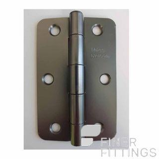 MILES NELSON 520SGH9060R STEEL HINGE 90X60X2MM RADIUS EDGE SATIN GRAPHITE