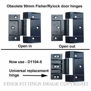 FFHD1104-5 HINGE - FISHER/RYLOCK 90MM DOOR BLACK