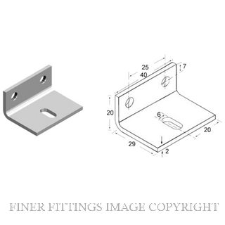 BRIO 91 BRACKET & FASTENERS SATIN STAINLESS