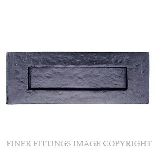 ELEMENTS HARDWARE 2045 BLACK IRON - PLAIN LETTERPLATE BLACK