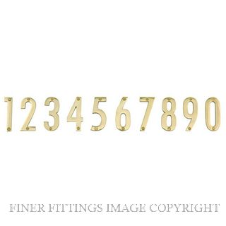 ELEMENTS 5251 50MM MODERN NUMERAL POLISHED BRASS