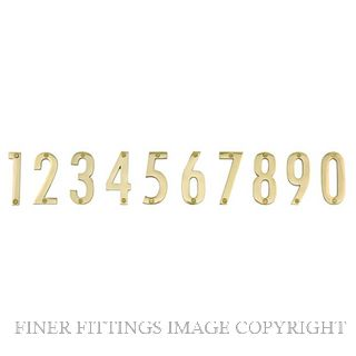ELEMENTS 5252 76MM MODERN NUMERAL POLISHED BRASS