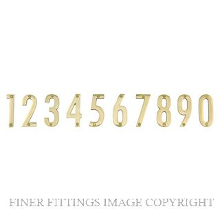 ELEMENTS 5253 100MM NUMERALS POLISHED BRASS