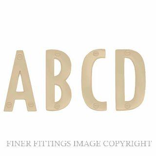 ELEMENTS 5300 ALPHABET 50MM A-D POLISHED BRASS