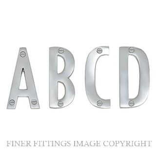 ELEMENTS 5302 ALPHABET 100MM A-D SATIN CHROME