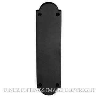 WINDSOR 5059 BLK PUSH PLATE - 205MM X 50MM MATT BLACK