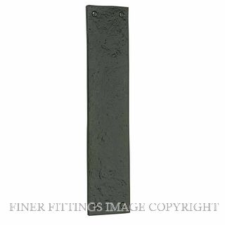WINDSOR 2024 BLACK IRON - PUSH PLATE 300 X 65MM BLACK