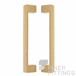 WINDSOR 8193 UB PULL HANDLE BACK TO BACK 235 OA UNLACQUERED BRASS