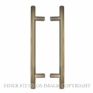 WINDSOR 8190 BHB PULL HANDLE BACK TO BACK 300MM OA BRUSHED BRONZE