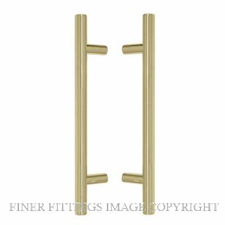 WINDSOR 8190 PB PULL HANDLE BACK TO BACK 300MM OA POLISHED BRASS-LACQUERED