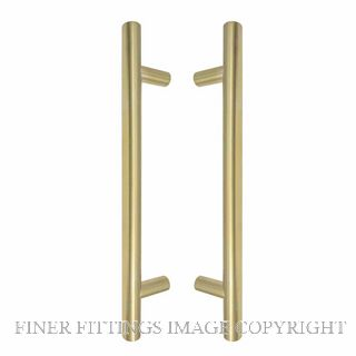 WINDSOR 8190 SB PULL HANDLE BACK TO BACK 300MM OA SATIN BRASS