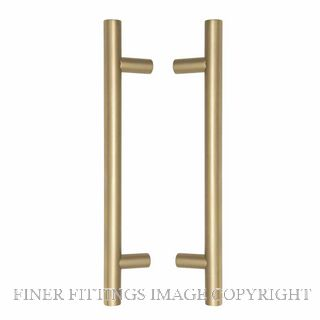 WINDSOR 8191 MB PULL HANDLE BACK TO BACK 400MM OA MATT BRASS