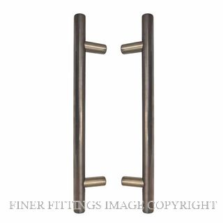 WINDSOR 8191 NB PULL HANDLE BACK TO BACK 400MM OA NATURAL BRONZE