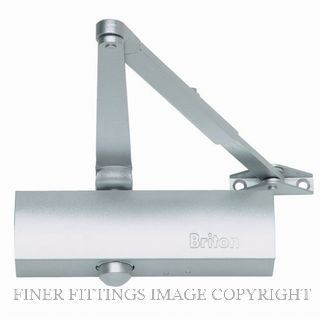 BRITON N200 3V SILVER DOOR CLOSER VISPAK SILVER GREY