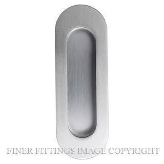 WINDSOR 5241 OVAL CONC FIX FLUSHPULL 120X40MM STAINLESS