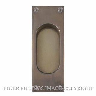 WINDSOR BRASS 5040 NB 125X45MM FLUSH PULL NATURAL BRONZE