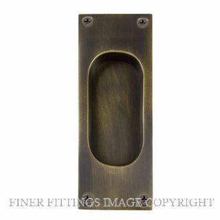 WINDSOR BRASS 5040 OR 125X45MM FLUSH PULL OIL RUBBED BRONZE