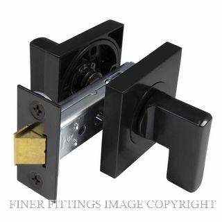 WINDSOR 9096 BLK MINI TURN LATCH SET - 60MM B/S  SQ. ROSE MATT BLACK