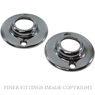 JAECO 293 END FLANGE 20MM (PAIR) CHROME PLATE