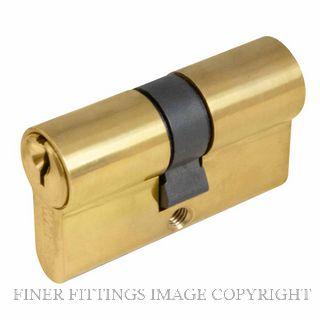 WINDSOR BRASS 1121 60MM EURO DOUBLE CYLINDER - KEY/KEY UNLACQUERED BRASS