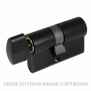 WINDSOR BRASS 1122 60MM EURO CYLINDER - KEY/SNIB MATT BLACK