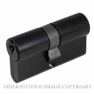 WINDSOR BRASS 1121 60MM EURO DOUBLE CYLINDER - KEY/KEY MATT BLACK