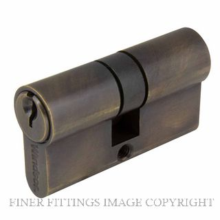 WINDSOR BRASS 1121 60MM EURO DOUBLE CYLINDER - KEY/KEY OIL RUBBED BRONZE