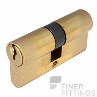 WINDSOR 1121 - 1224 SB EURO DOUBLE KEYED CYLINDERS SATIN BRASS