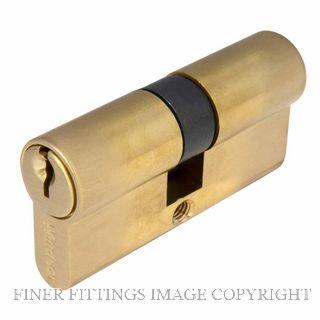 WINDSOR BRASS 1121 60MM EURO DOUBLE CYLINDER - KEY/KEY SATIN BRASS