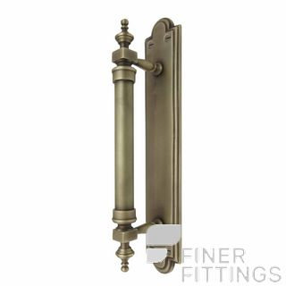 WINDSOR 5038 RB PULL HANDLE ON BACK PLATE ROMAN BRASS
